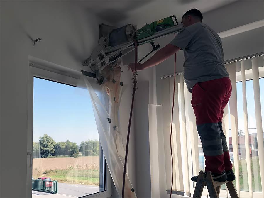 Busenje otvora za ventilaciju