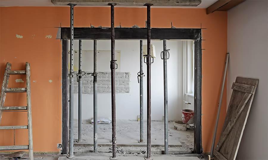 Metalno ojacanje umjesto nosivog zida