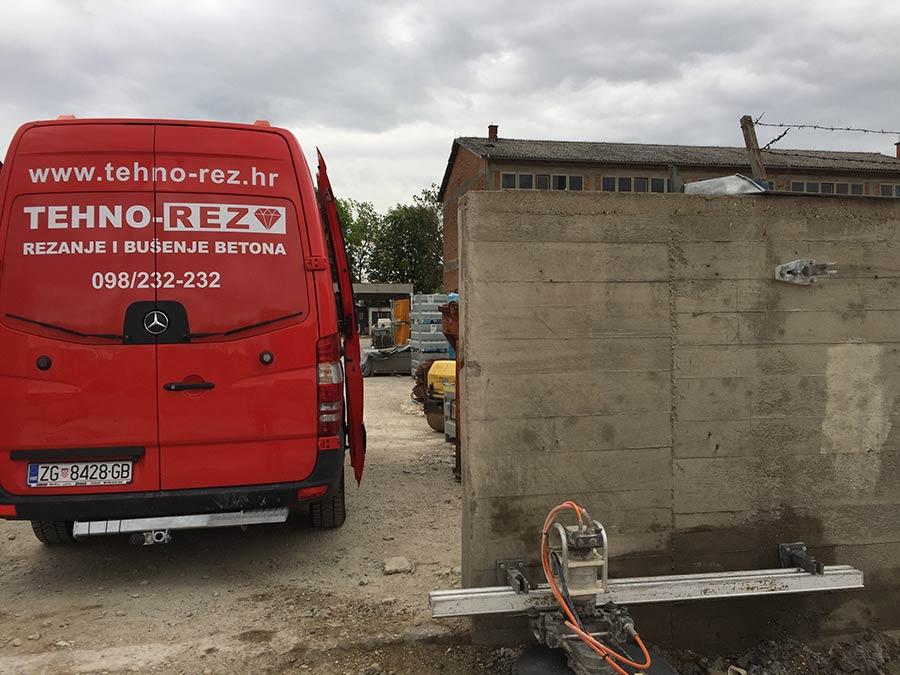 Rezanje betonskog zida
