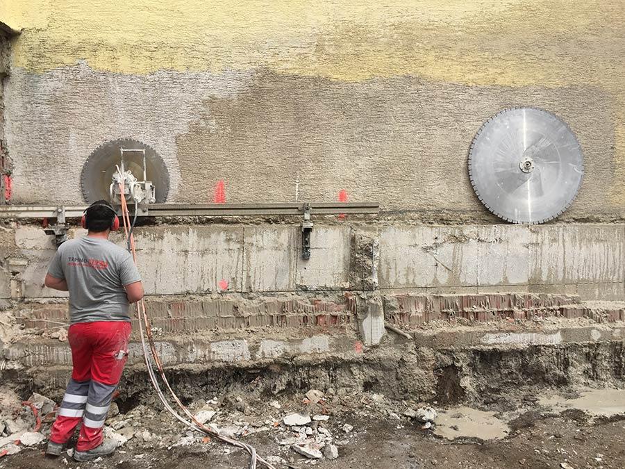 Uklanjanje suvisnog betona dijamantnim rezanjem