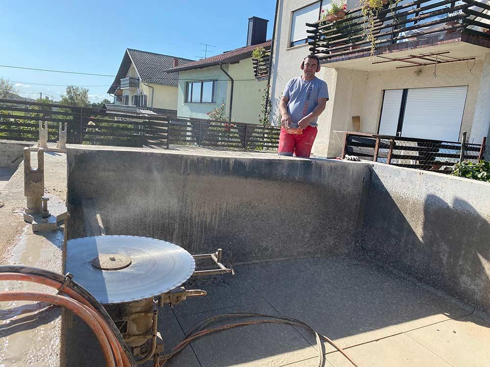 Horizontalno rezanje armiranog betona